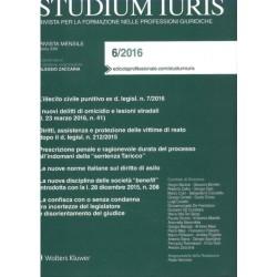 STUDIUM IURIS 6/2016 rivista