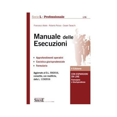 MANUALE DELLE ESECUZIONI 2ed.2016
