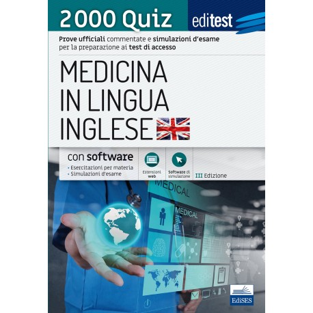 EdiTEST. Medicina in lingua inglese. 2000 quiz. Con espansione online